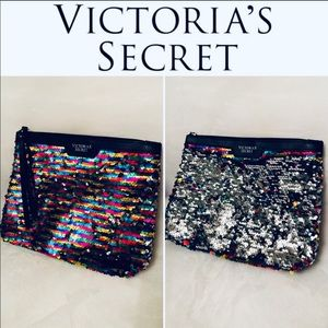 Victoria's Secret Double-Edged Sequin Clutch/Pouch